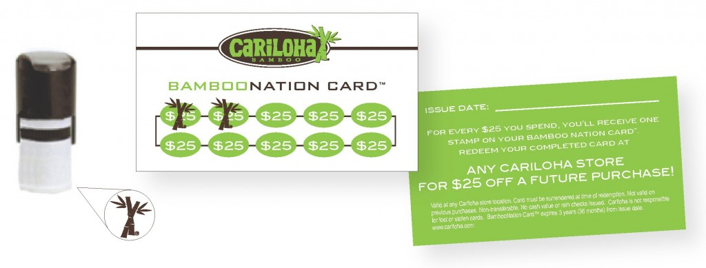 Cariloha Customer Loyalty Card