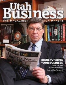 utah business magazine cover march 2014